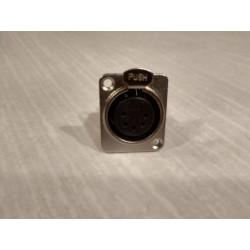 D5F 5-Pin Female XLR KONEKTORS